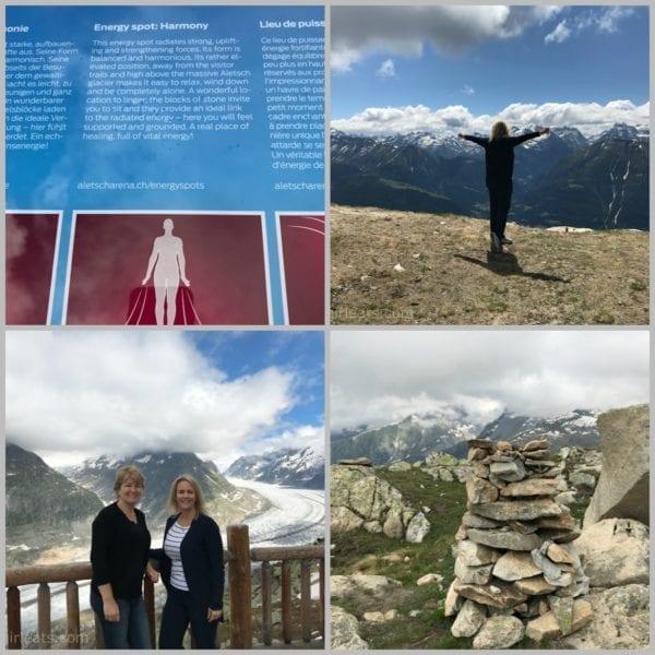 Collage of the Aletsch glacier.