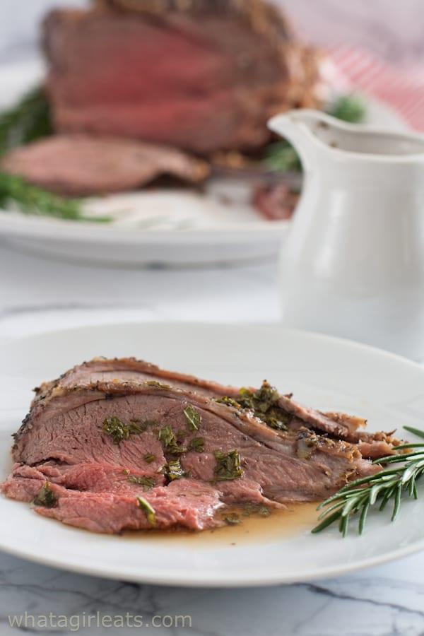 Lamb with fresh mint sauce