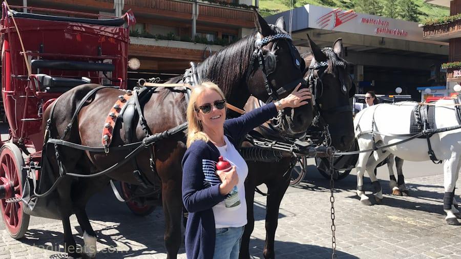 Horse drawn carriage in Zermatt