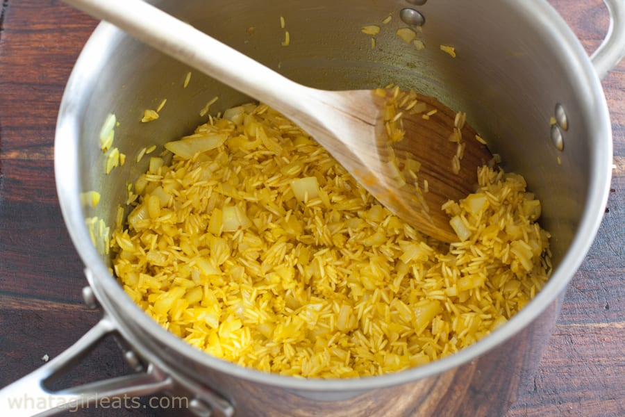uncooked rice pilaf