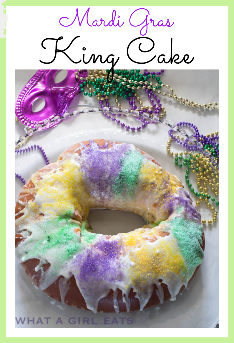King Cake is a Mardi Gras staple. This cinnamon and cream cheese filled King Cake is made with a rich brioche dough with step by step instructions and video.