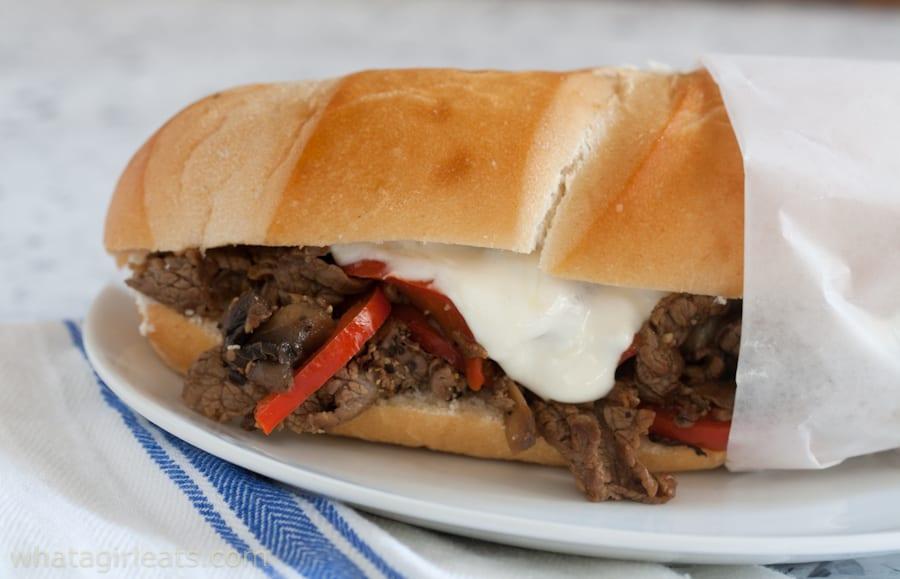 Healthier Philly Steak Sandwich