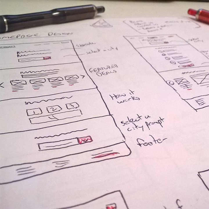 UI UX Design Sketches and Wireframes from Instagram ui ux wireframing kevin powell