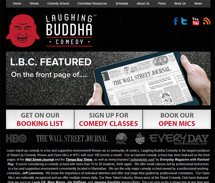 100+ Comedy Club & Stand-Up Comedian Websites