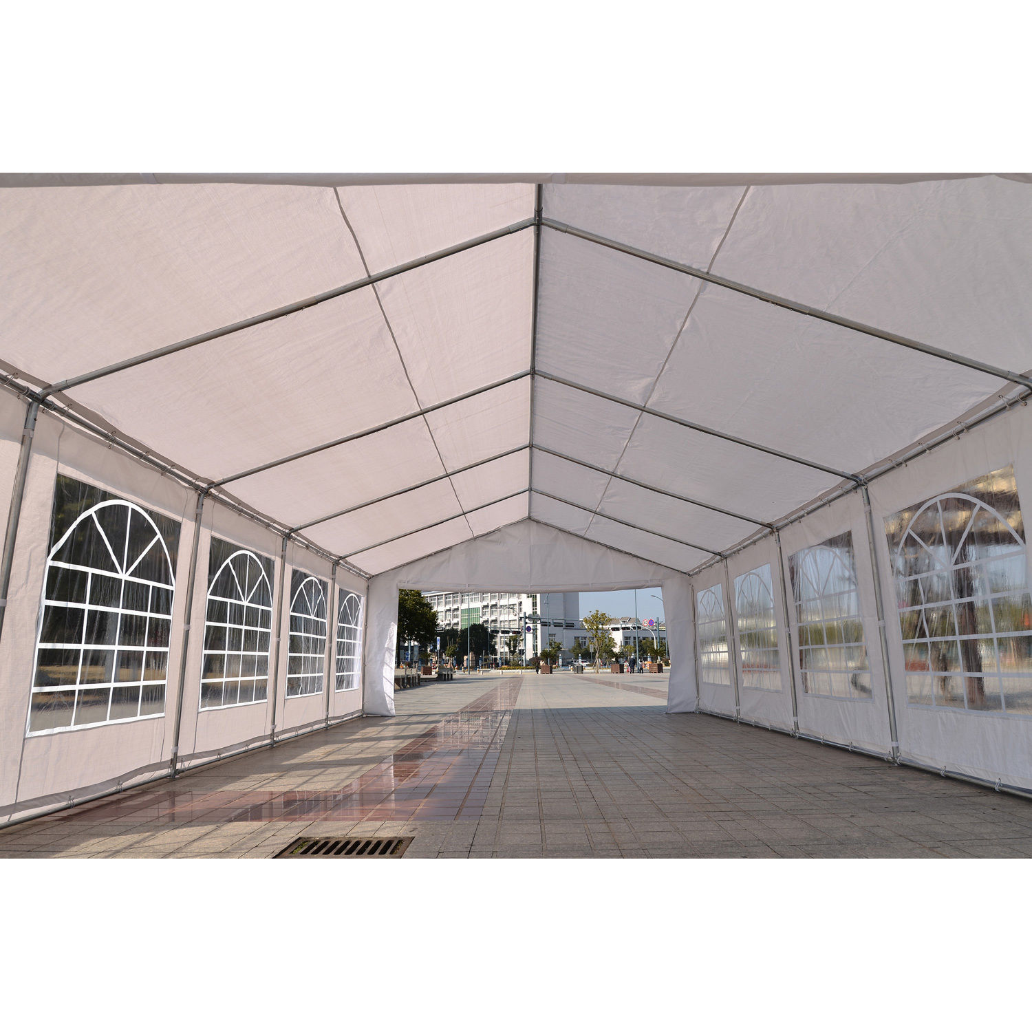32 X 16 Heavy Duty White Party Tent Canopy Gazebo