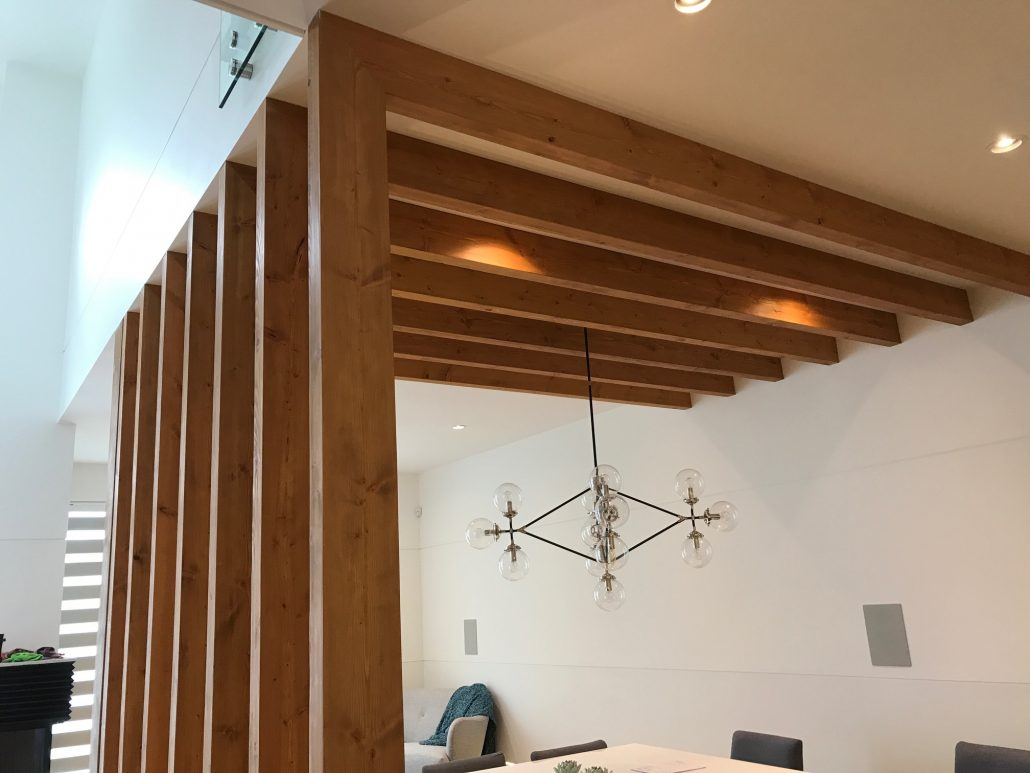 Wide Plank Hardwood Beam Cladding