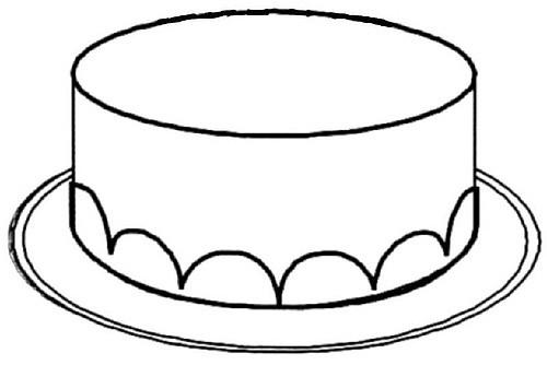 Happy Birthday Cake Drawing