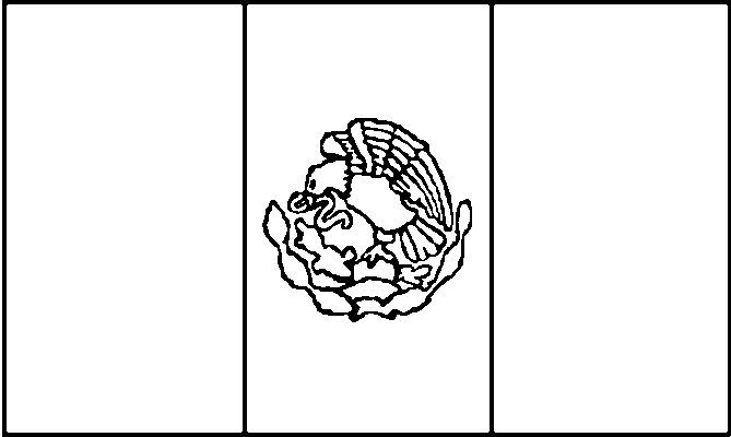 Mexican Flag Symbol Coloring Page