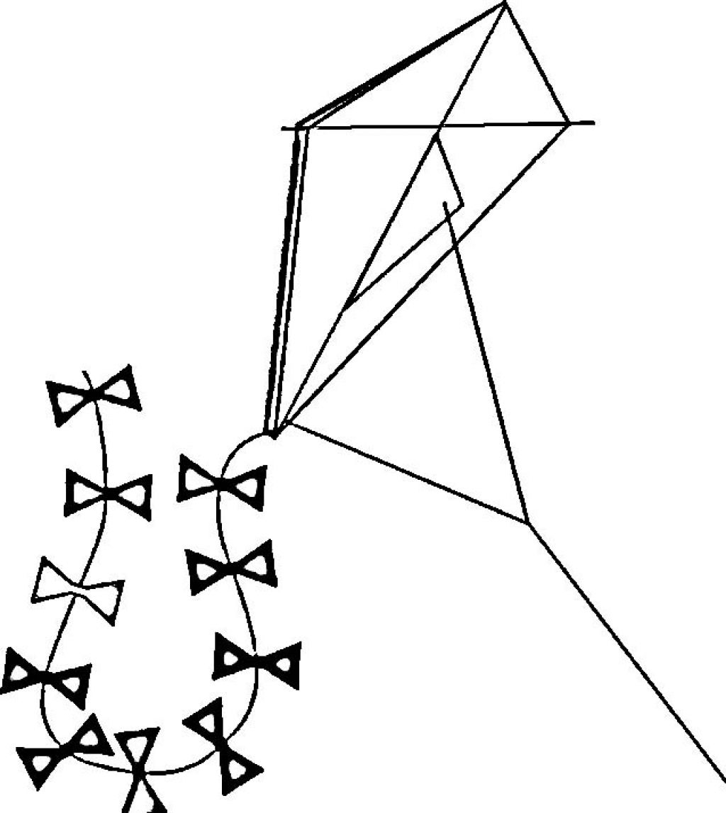Kite Black And White Colorful And Adorable Kite Coloring Pages