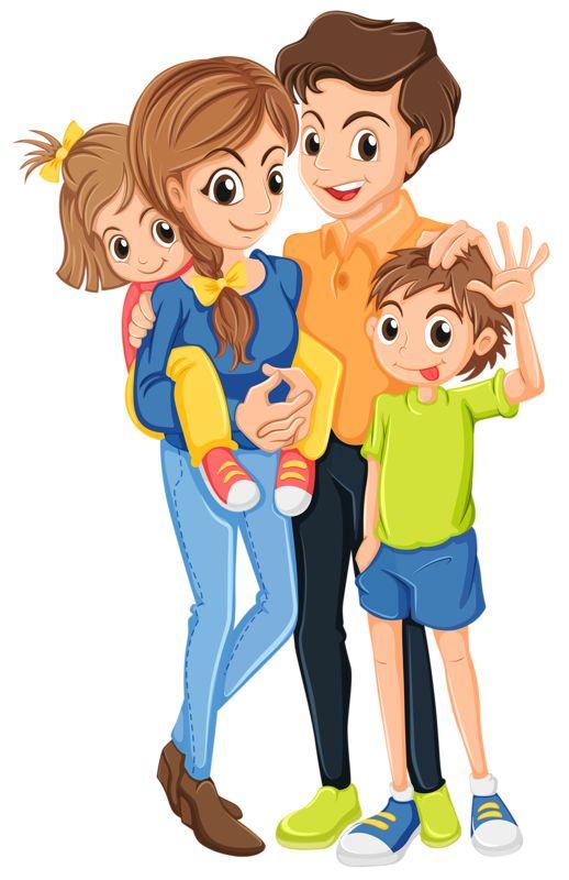 Familia En Art Grupo Clip De