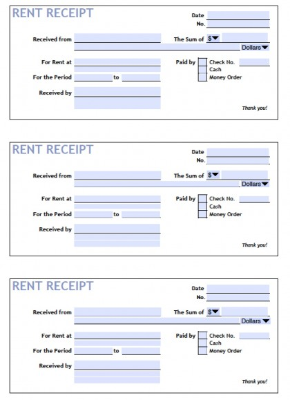 Renters Lease Agreement Blank Form
