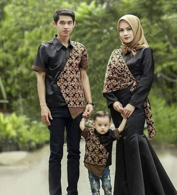 Model Baju Batik Couple Kombinasi Terbaru 27