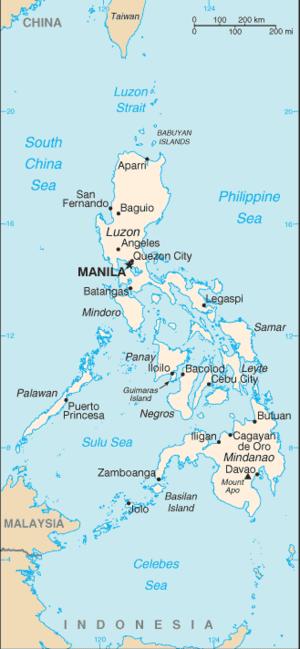 Visayas Philippines Map
