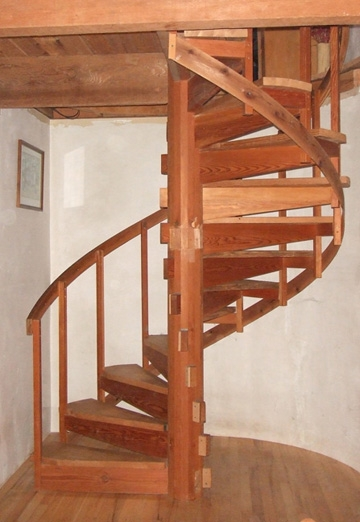 Spiral Stair Wildcat Man   8 Foot Spiral Staircase   Stair Railing   Winding Staircase   Stair Parts   Wood   Modern Staircase