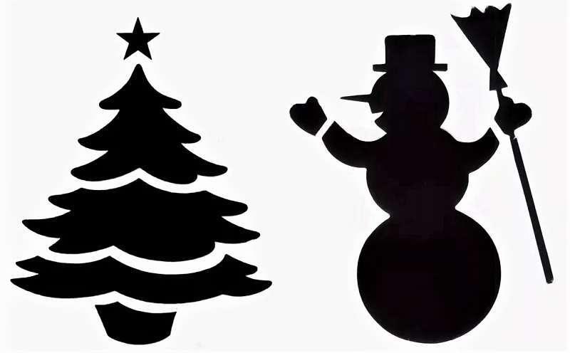 Người tuyết cho năm mới với cây Giáng sinh