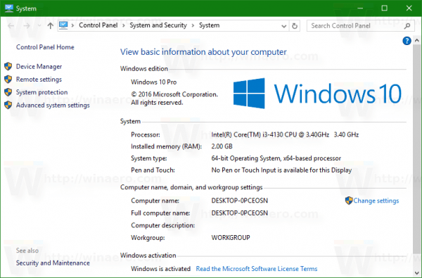 What Security Tab Windows 10