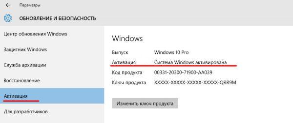 """Παράθυρο ρυθμίσεων """"ενεργοποίησης"""" στον πίνακα ελέγχου των Windows"""