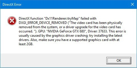 DirectX-kompatibilitetsfeil med skjermkort