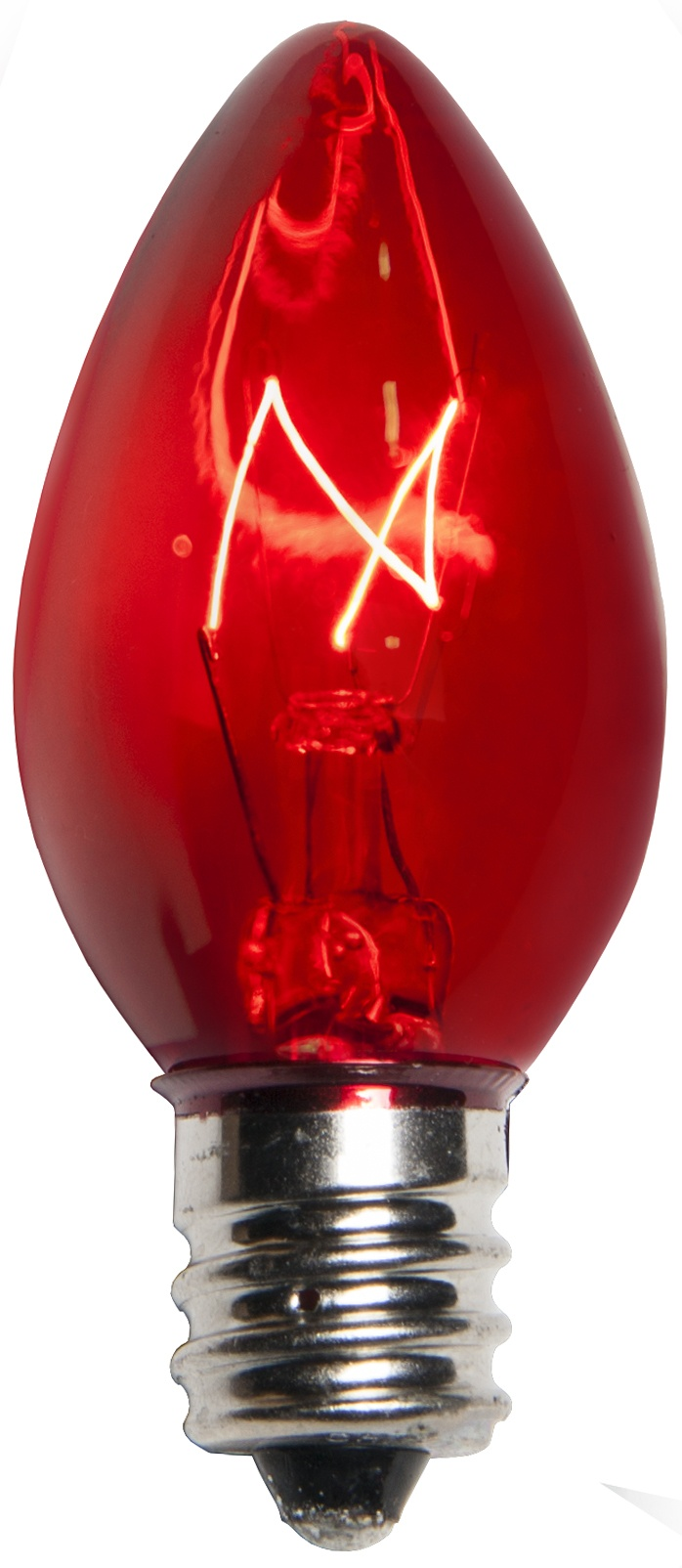C7 Red Triple Dipped Transparent Bulbs Wintergreen