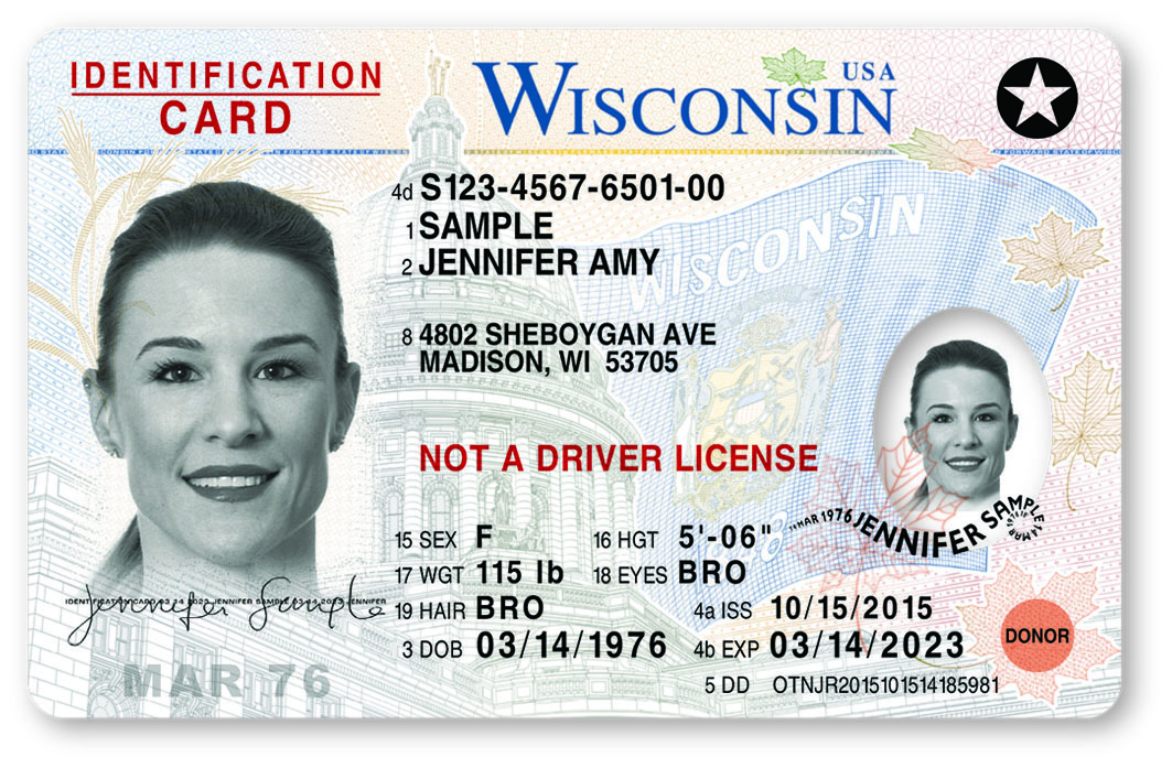 Wisconsin Driver License Image S
