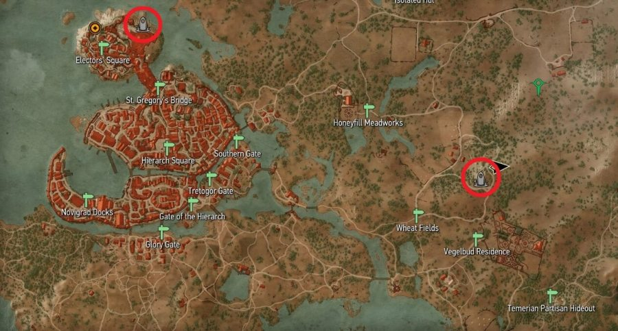 Place of Power Locations   Witcher Hour Witcher 3   Novigrad Place of Power Map Locations