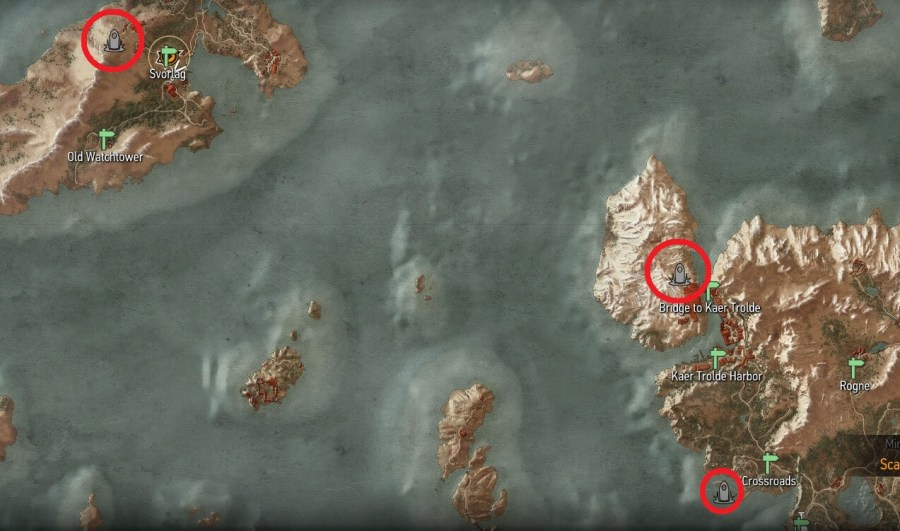 Place of Power Locations   Witcher Hour Witcher 3   Skellige Place of Power Map Locations
