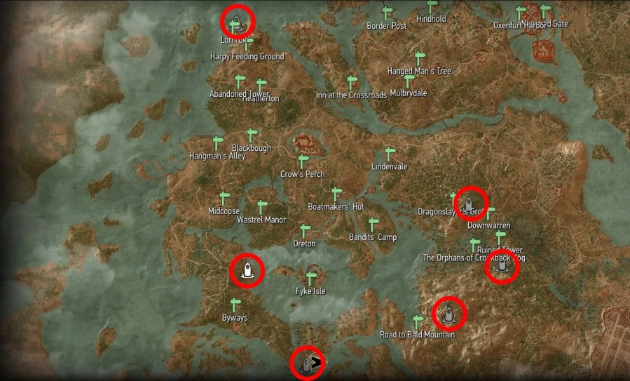 Place of Power Locations   Witcher Hour Witcher 3   Velen Place of Power Map Locations