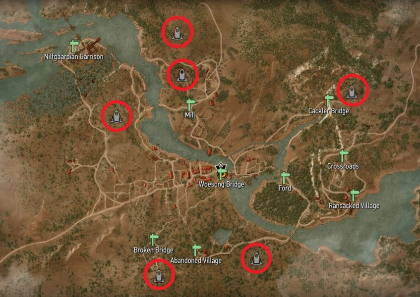 Place of Power Locations   Witcher Hour Witcher 3   White Orchard Place of Power Map Locations