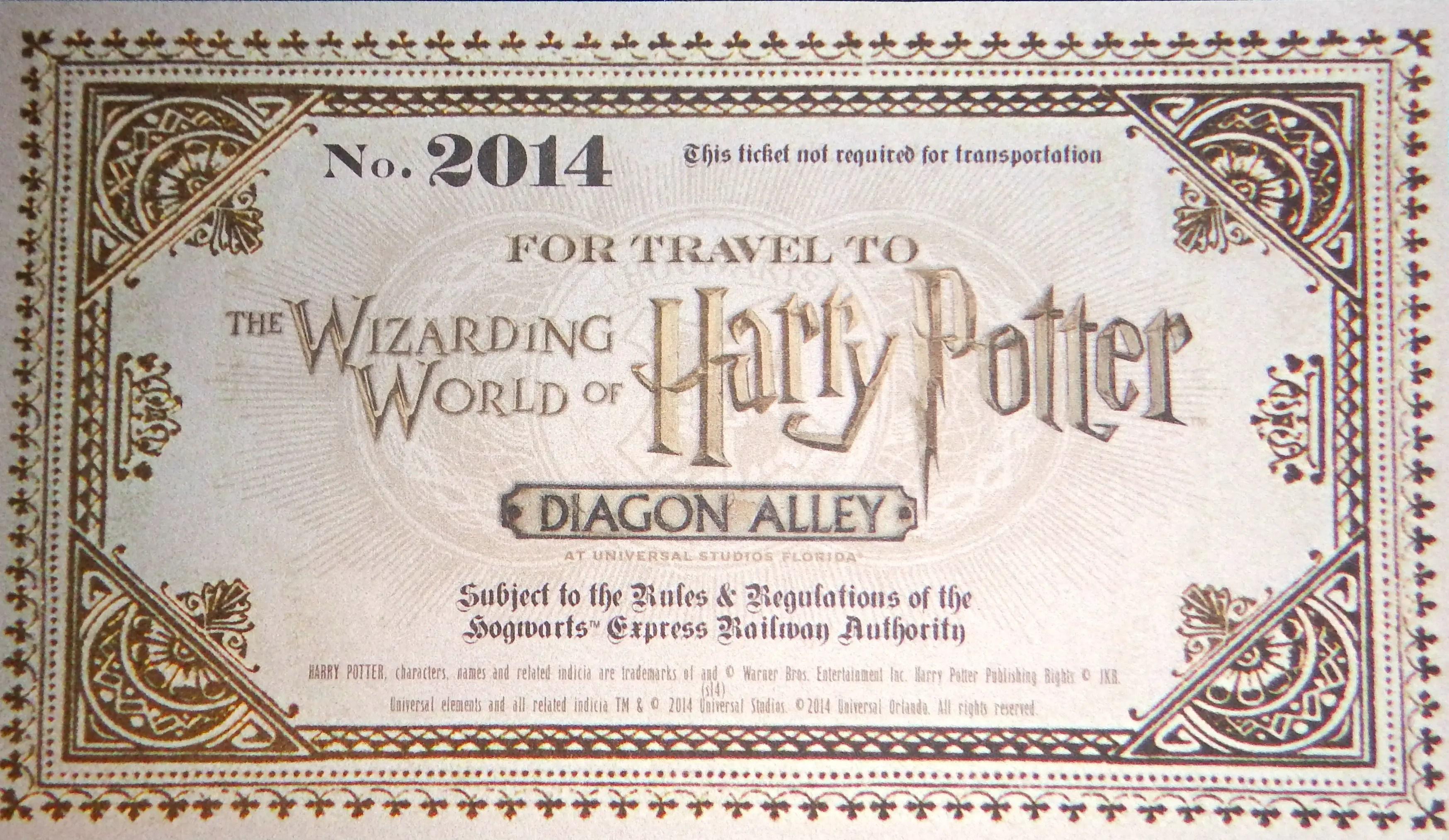 hogwarts express ticket - HD3495×2028