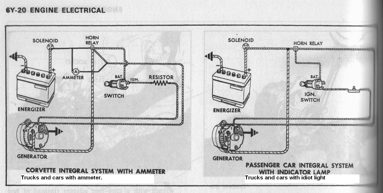 One Wire Charging System Wiring Diagrams Automotive Trusted Corvette Car Diagram