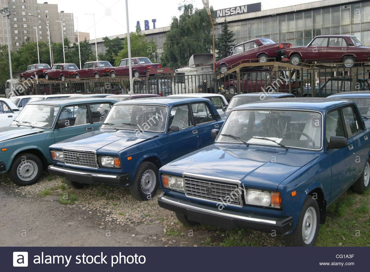 New Sale Of Russian Made Lada Cars Made By Avtovaz Car Maker On This Month