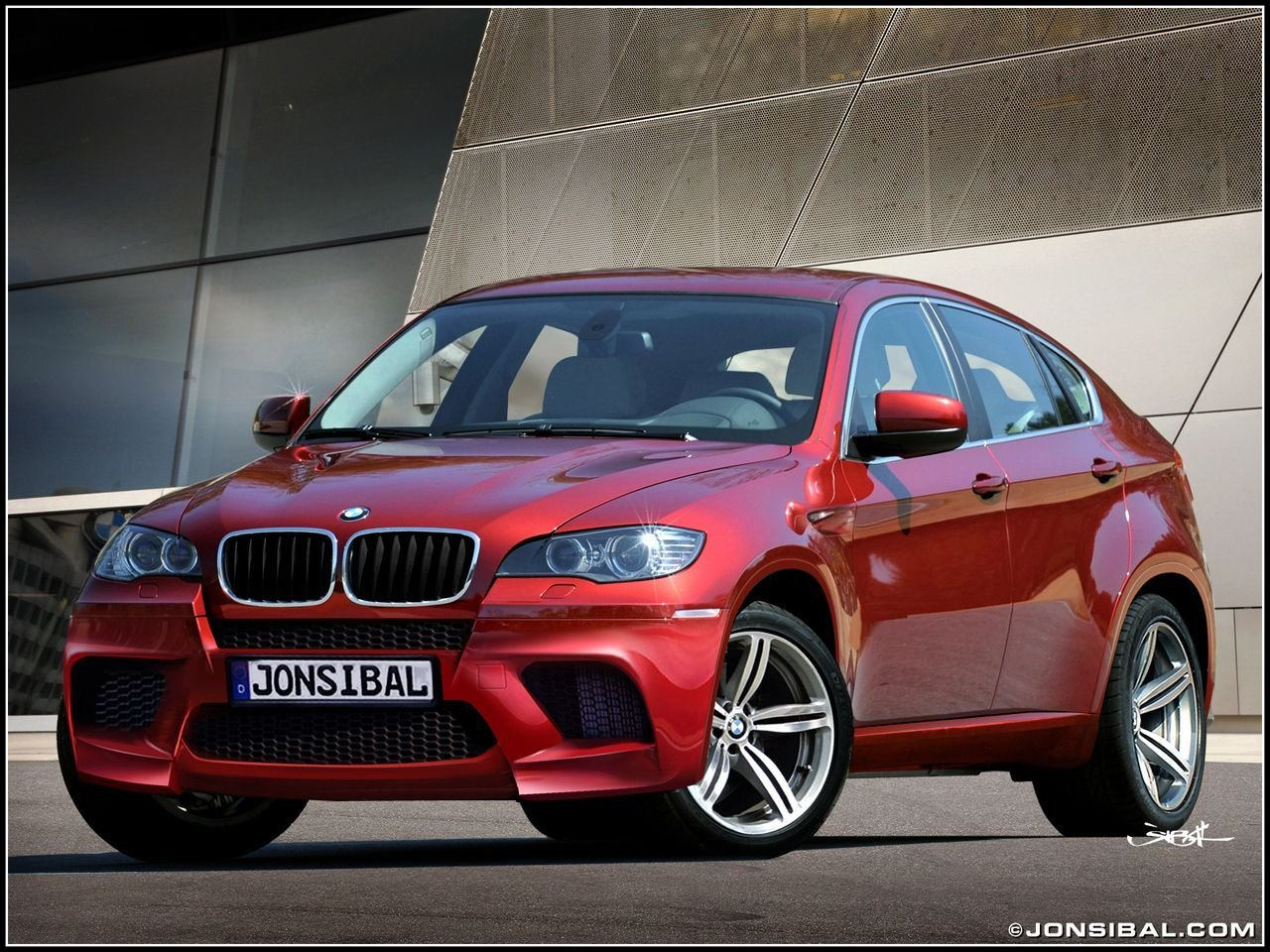 New Bmw X6M In Metallic Ruby Red With Black Leather Interior On This Month