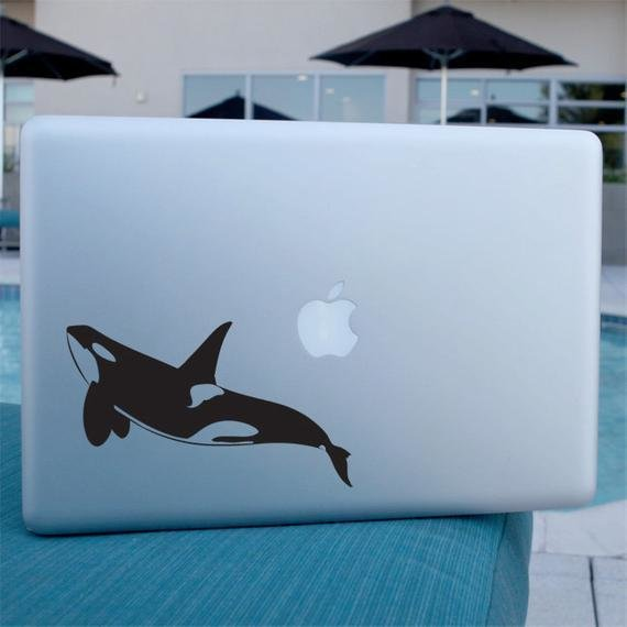 New Orca Whale Decal Vinyl Sticker For Laptop Car Window On This Month