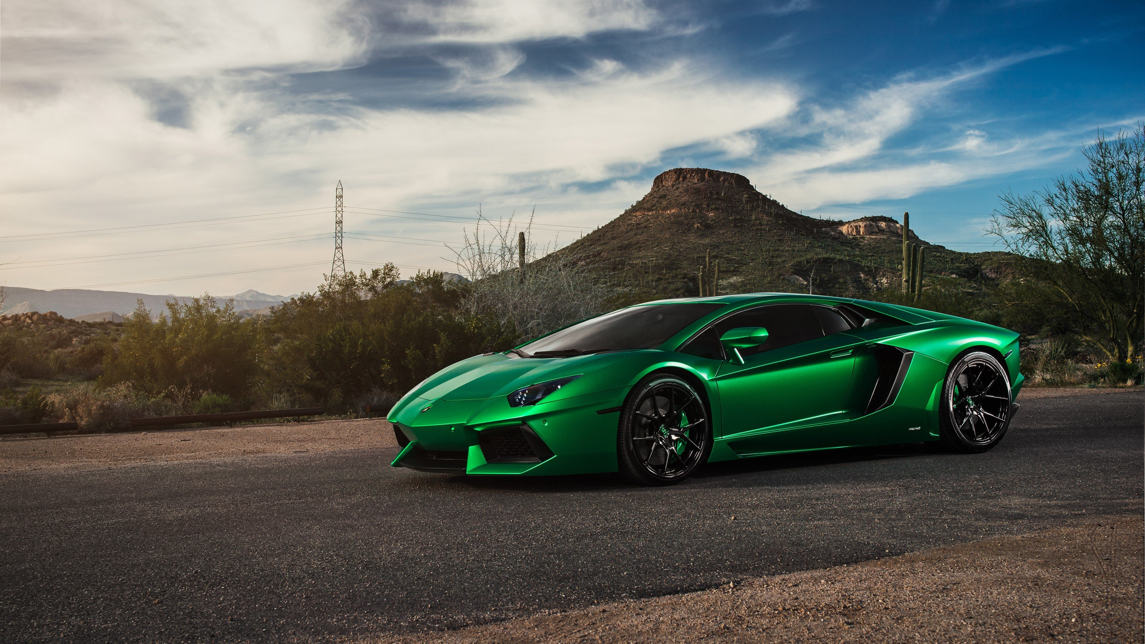 New Lamborghini Aventador Green 4K Hd Cars 4K Wallpapers On This Month