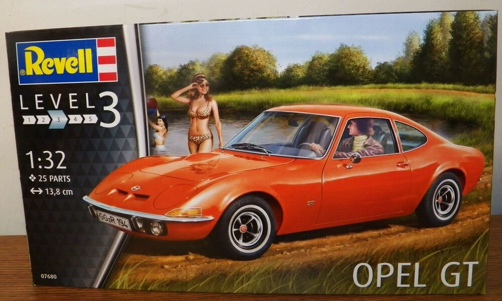 New Revell Germany Opel Gt Plastic Model Car Kit 07680 1 32 On This Month