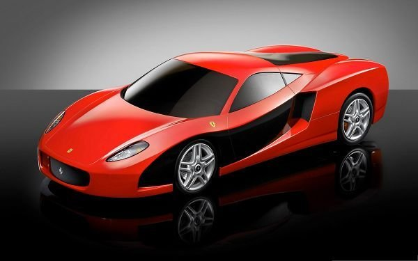 New Super Cars Image Red Ferrari Sport Car On Black On This Month