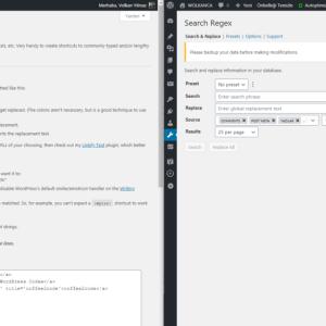 WordPress Text Replace ve Search Regex eklentisi