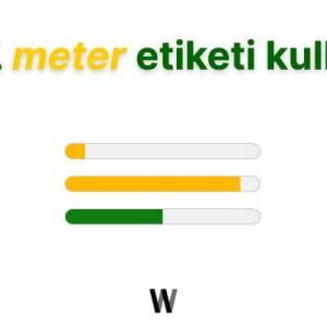 HTML meter etiketi