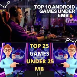 5MB'dan küçük en iyi Android oyunları