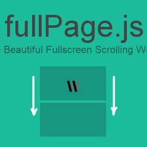 Fullpage.js ile tam sayfa kaydırma