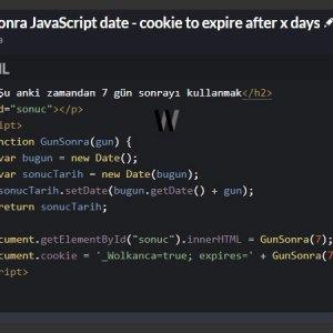 JavaScript date gün sonra ayarlamak