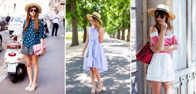 Cappello cantiere con abito moda