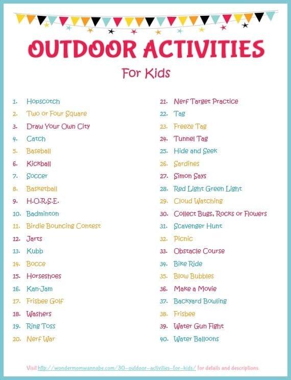Outdoor Games List