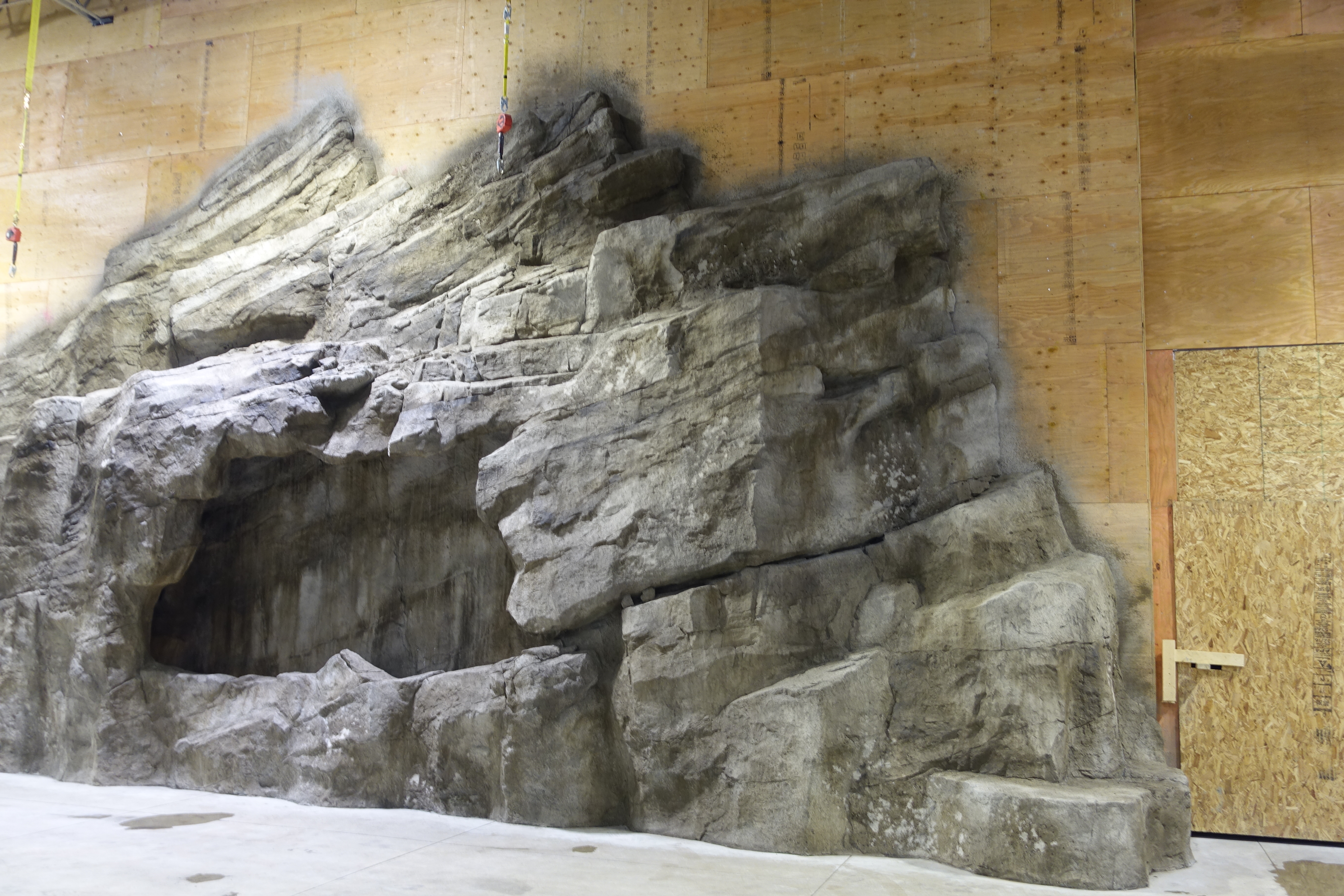 Giant Rock Mountain With Huge Cave Water Feature