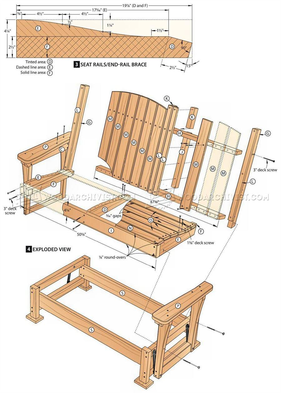 Wooden Porch Glider