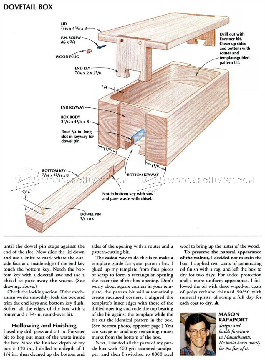 Wood Flower Box Plans