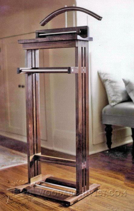 1367 Suit Valet Stand Plans Woodarchivist