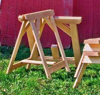 Diy Folding Sawhorse Woodarchivist