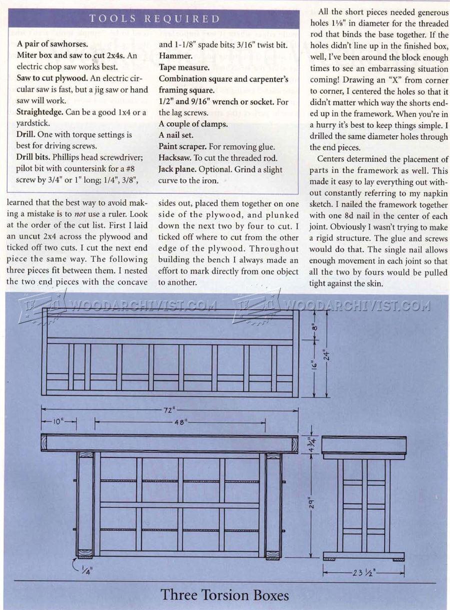 Torsion Box Workbench Plans Woodarchivist