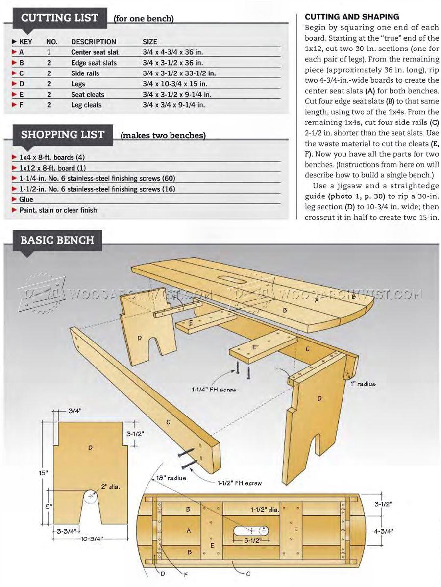 Outdoor Bench Seat Plans Woodarchivist